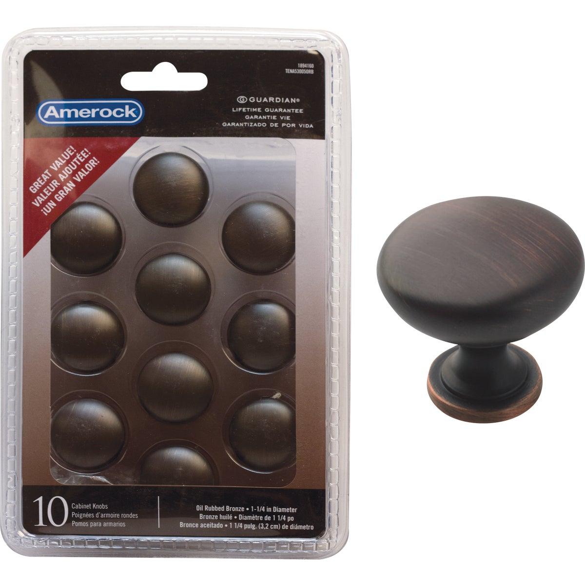 Amerock Allison Edona Oil Rubbed Bronze 1-1/4 In. Cabinet Knob, (10-Pack)