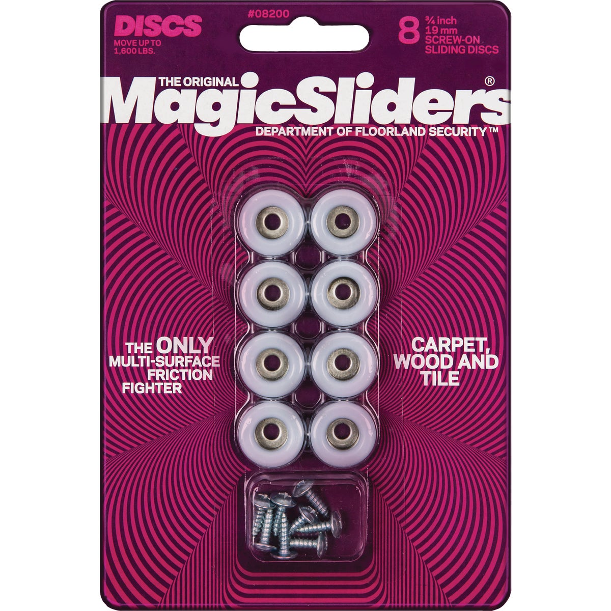 "3/4"" ROUND MAGIC SLIDER - 08200 by Magic Sliders"