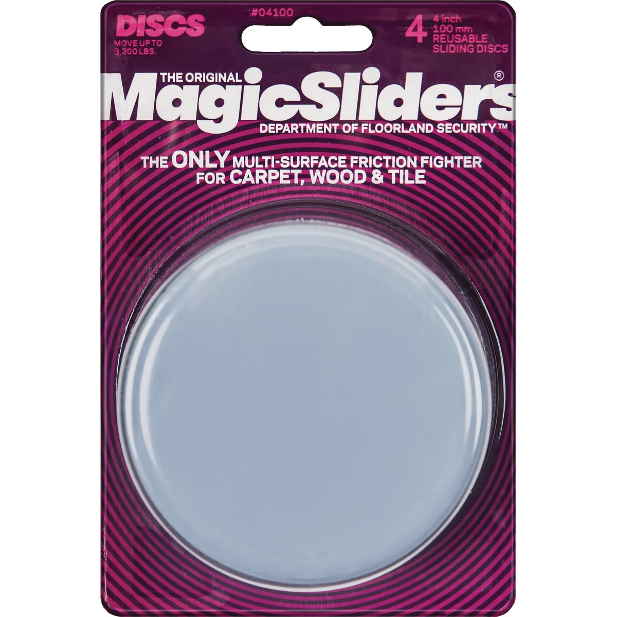 "4"" ROUND MAGIC SLIDER - 04100 by Magic Sliders"