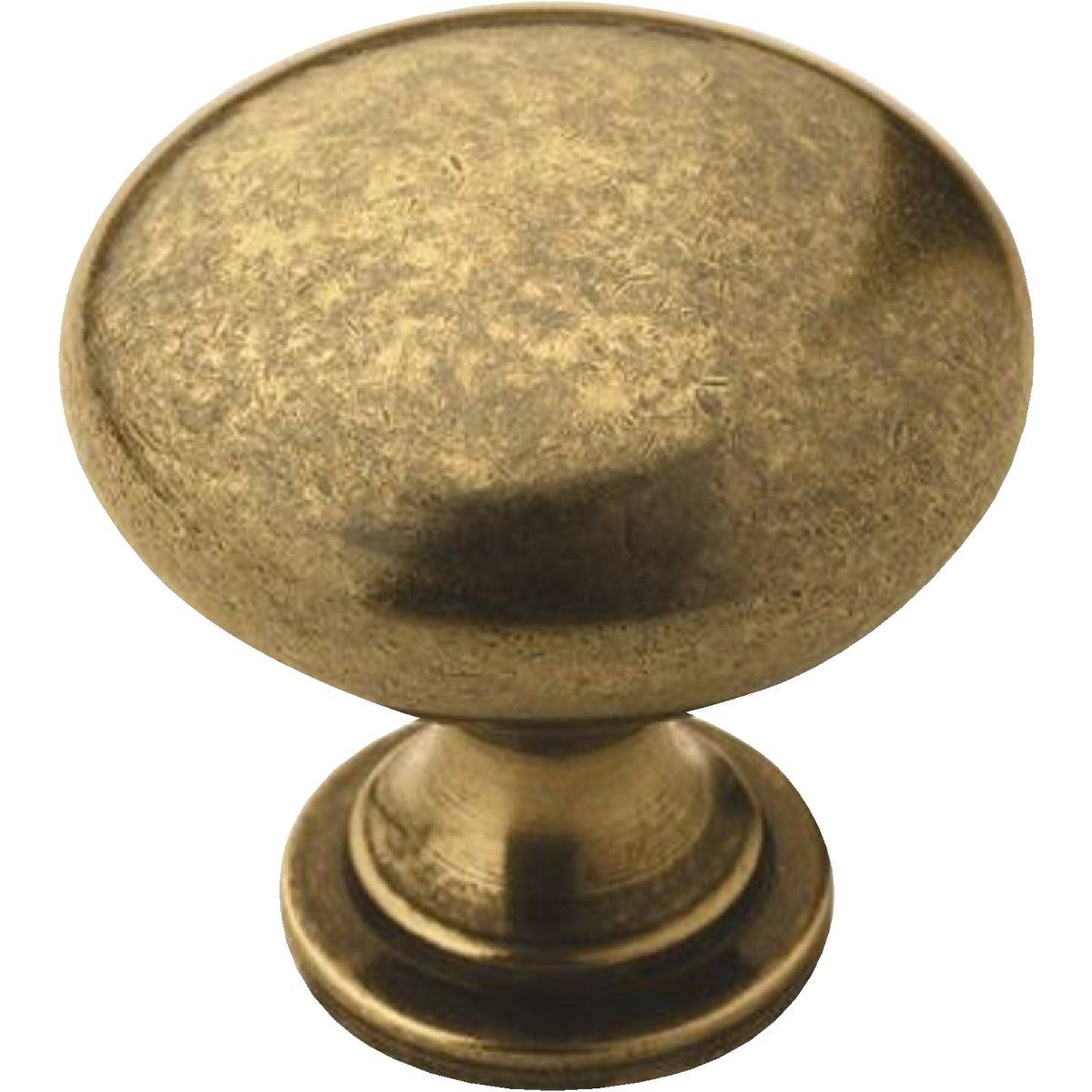 Amerock Allison Edona Burnished Brass 1-1/4 In. Cabinet Knob