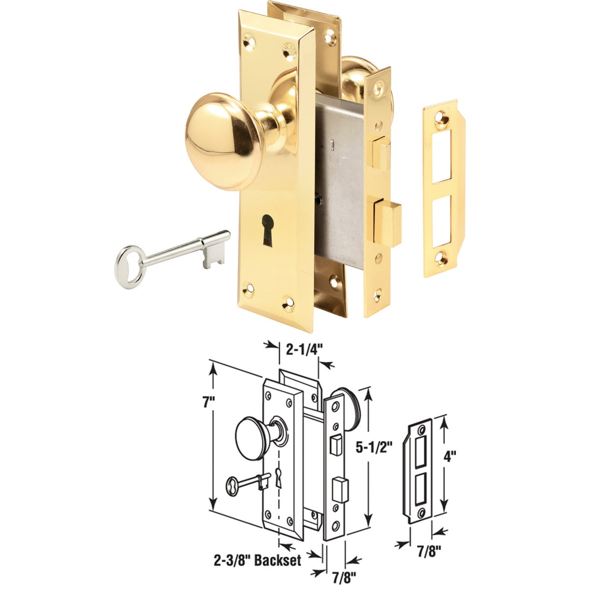BIT KEY MORTISE LOCKSET - E 2293 by Prime Line Products
