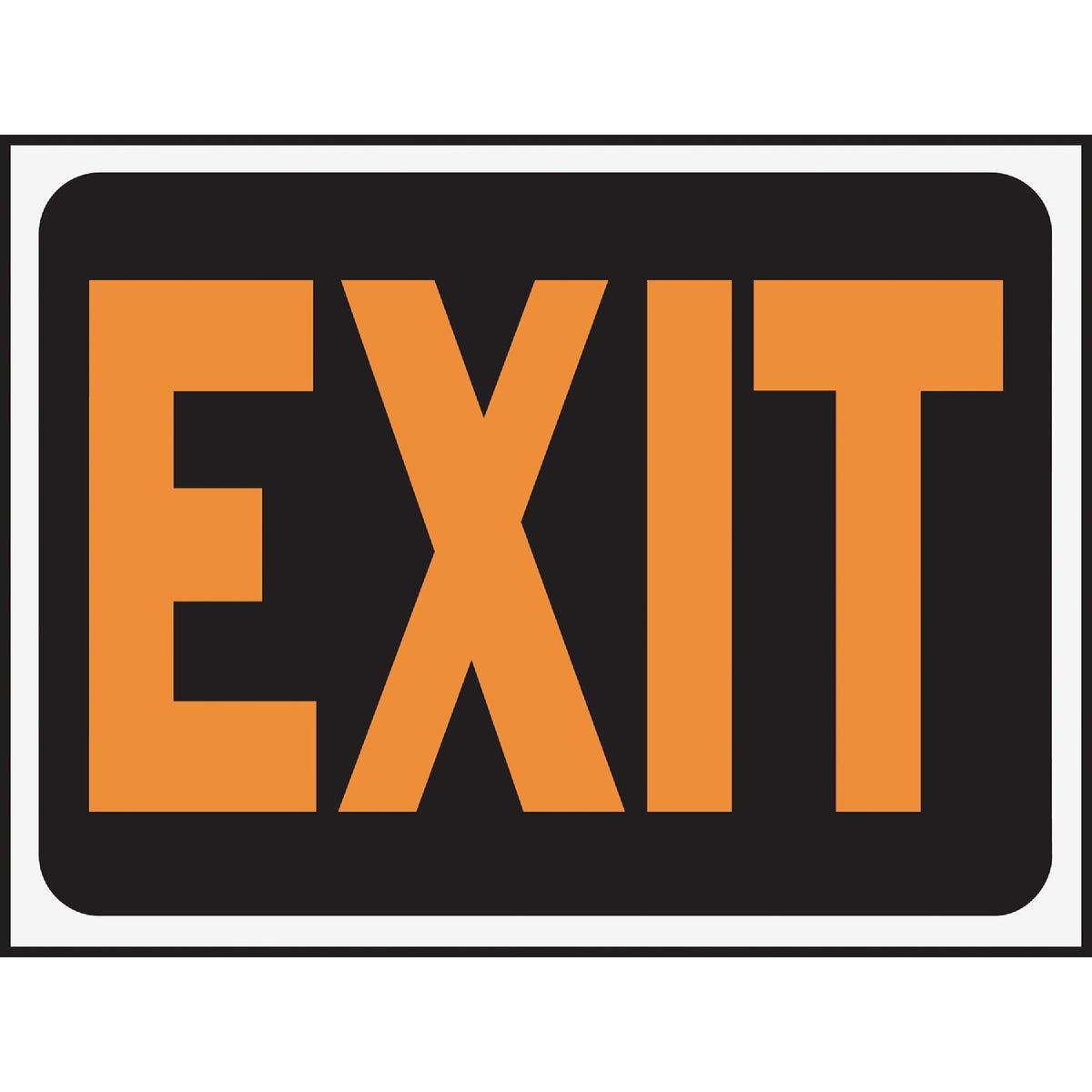 9X12 EXIT SIGN