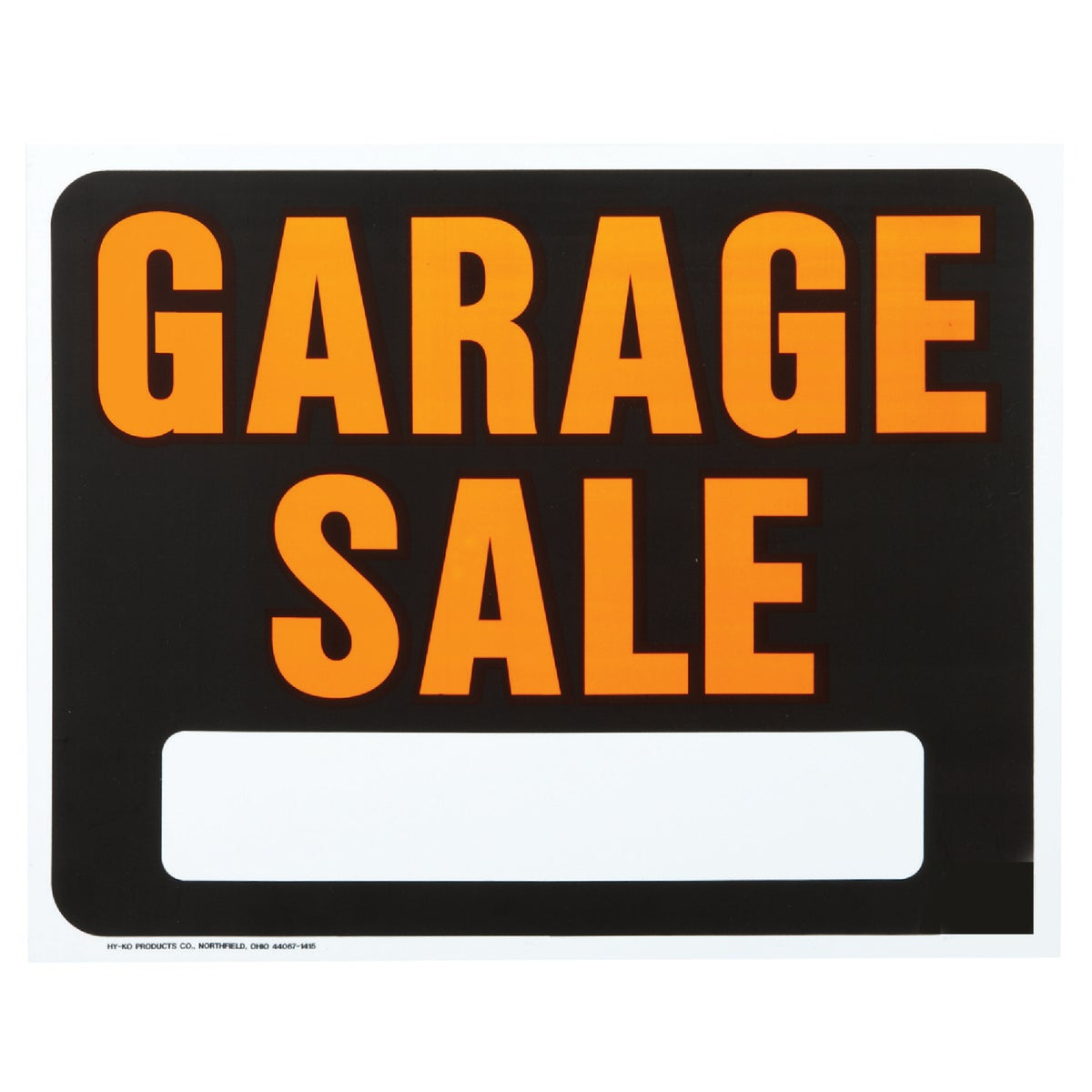 15X19 GARAGE SALE SIGN