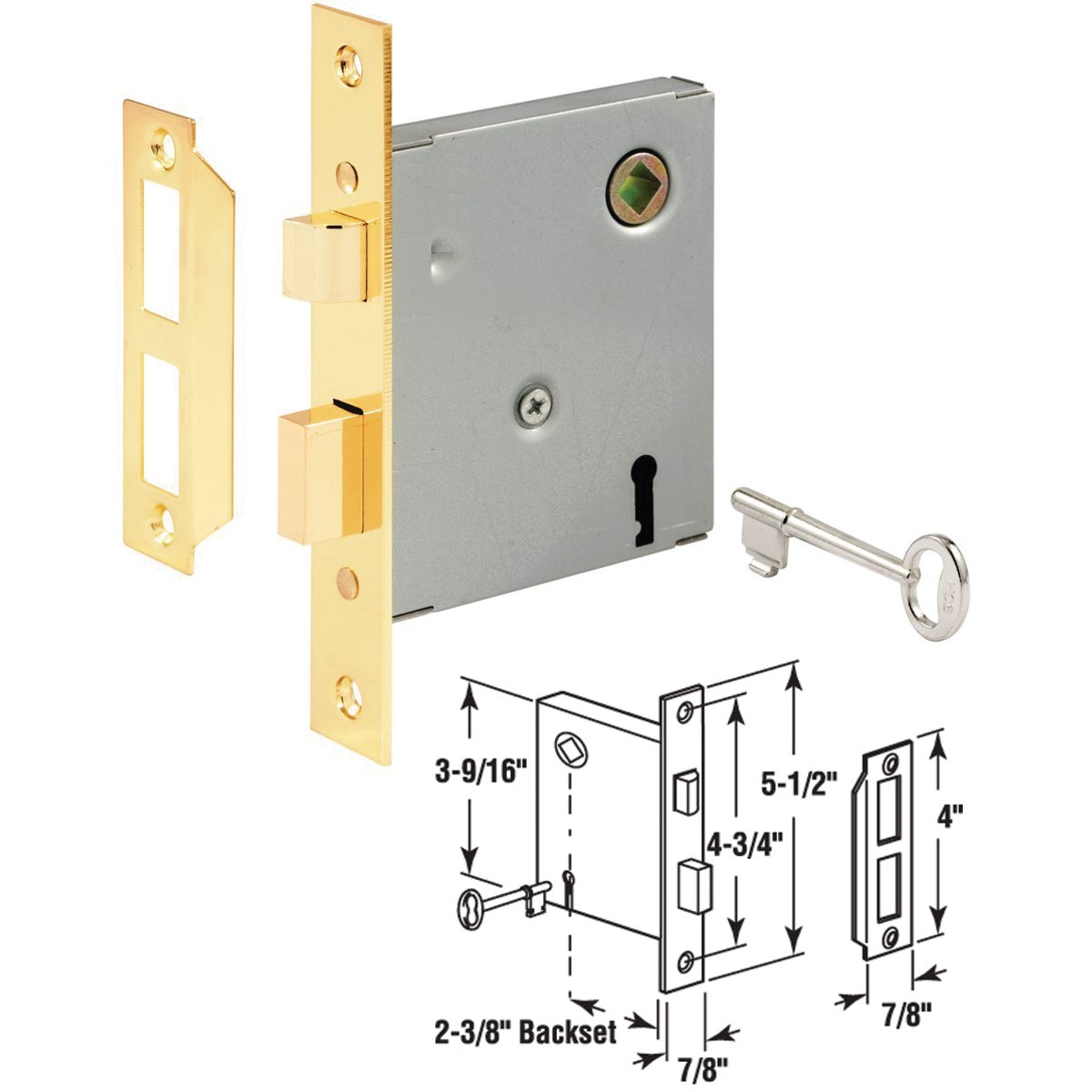 BIT KEY MORTISE LOCK