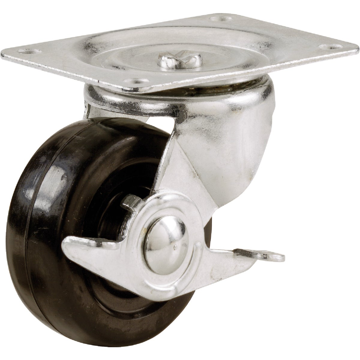 "3"" SP CASTER W/BRAKE - 9511 by Shepherd Hardware"