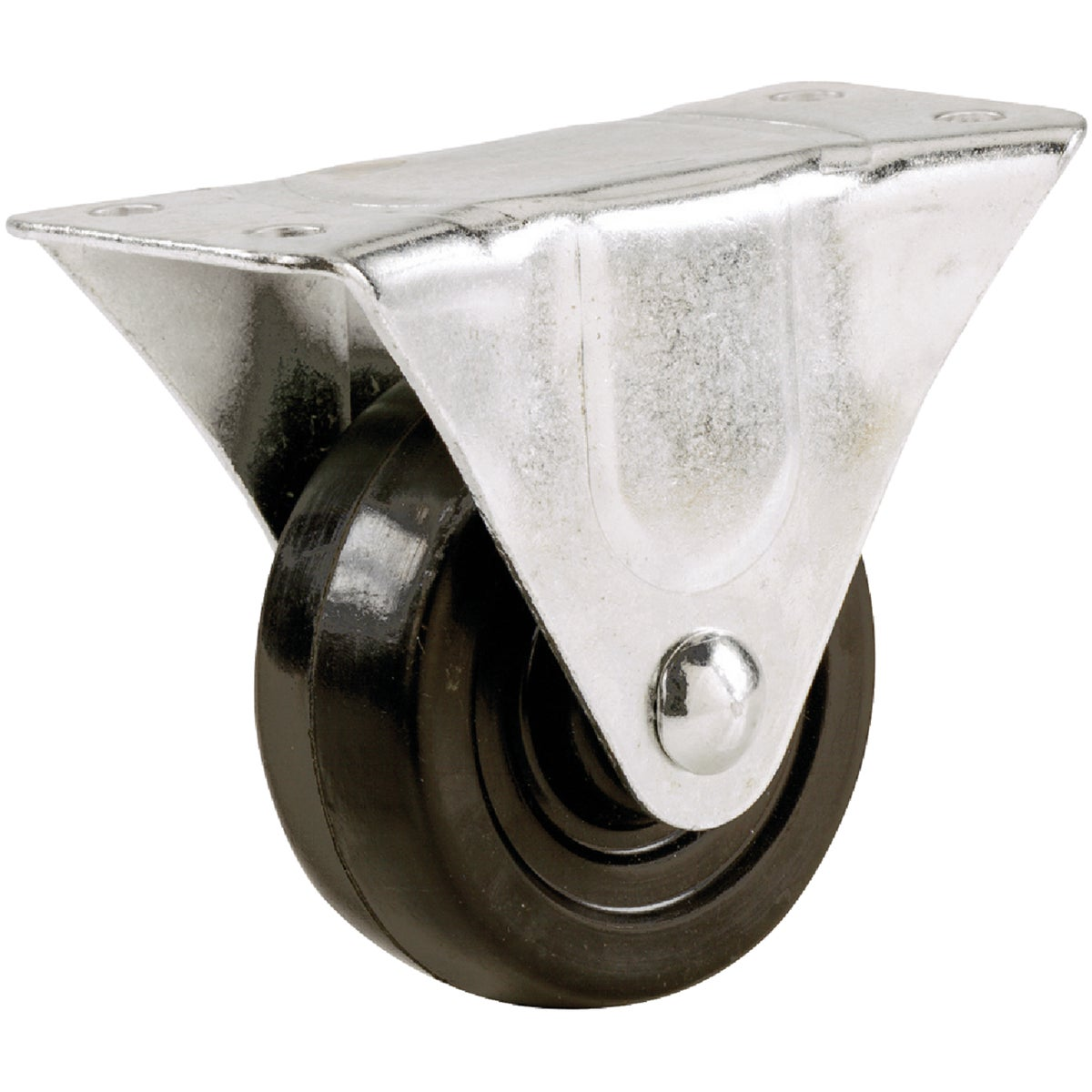 "2"" RUBBER RIGID CASTER - 9481 by Shepherd Hardware"
