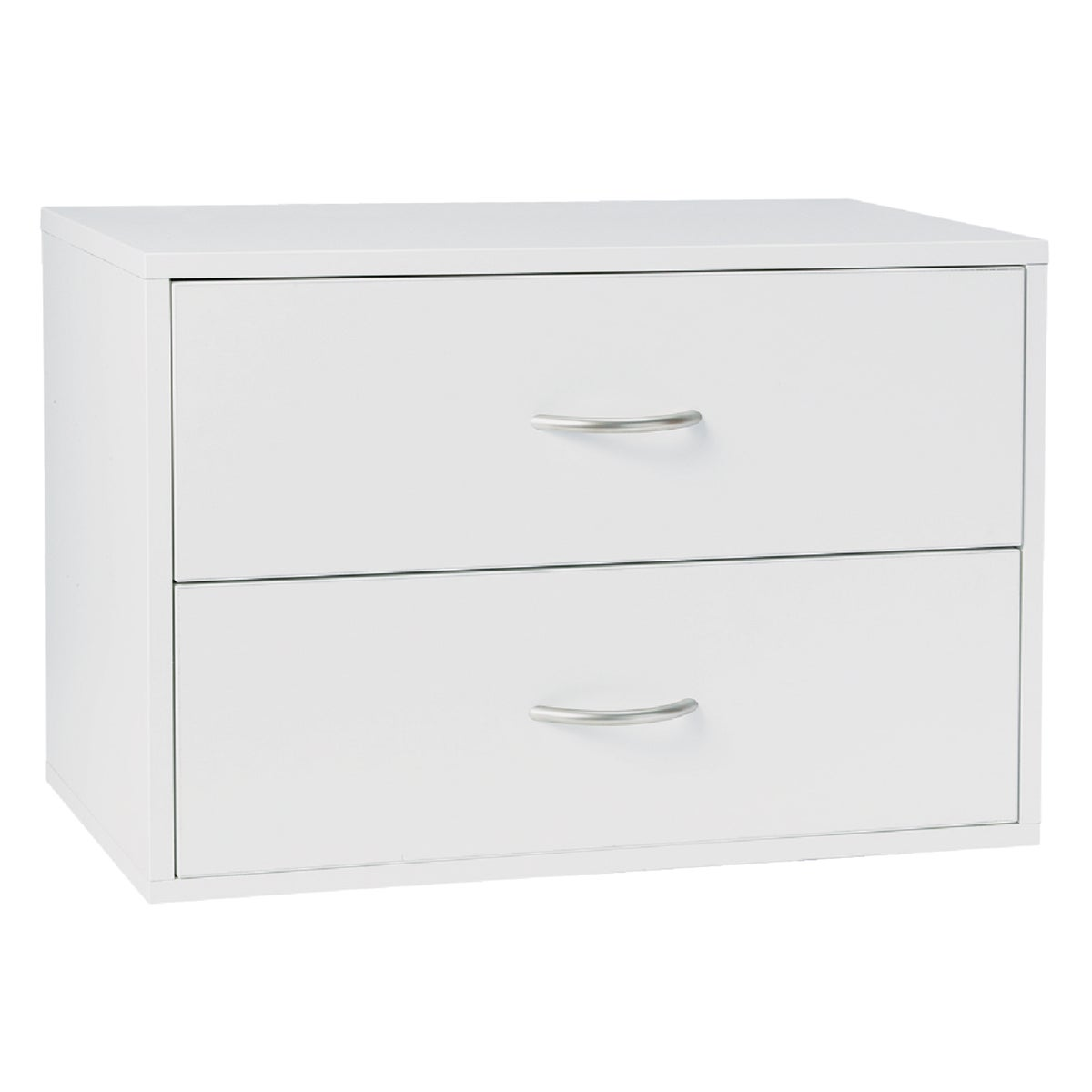 WHITE 2-DRAWER O-BOX
