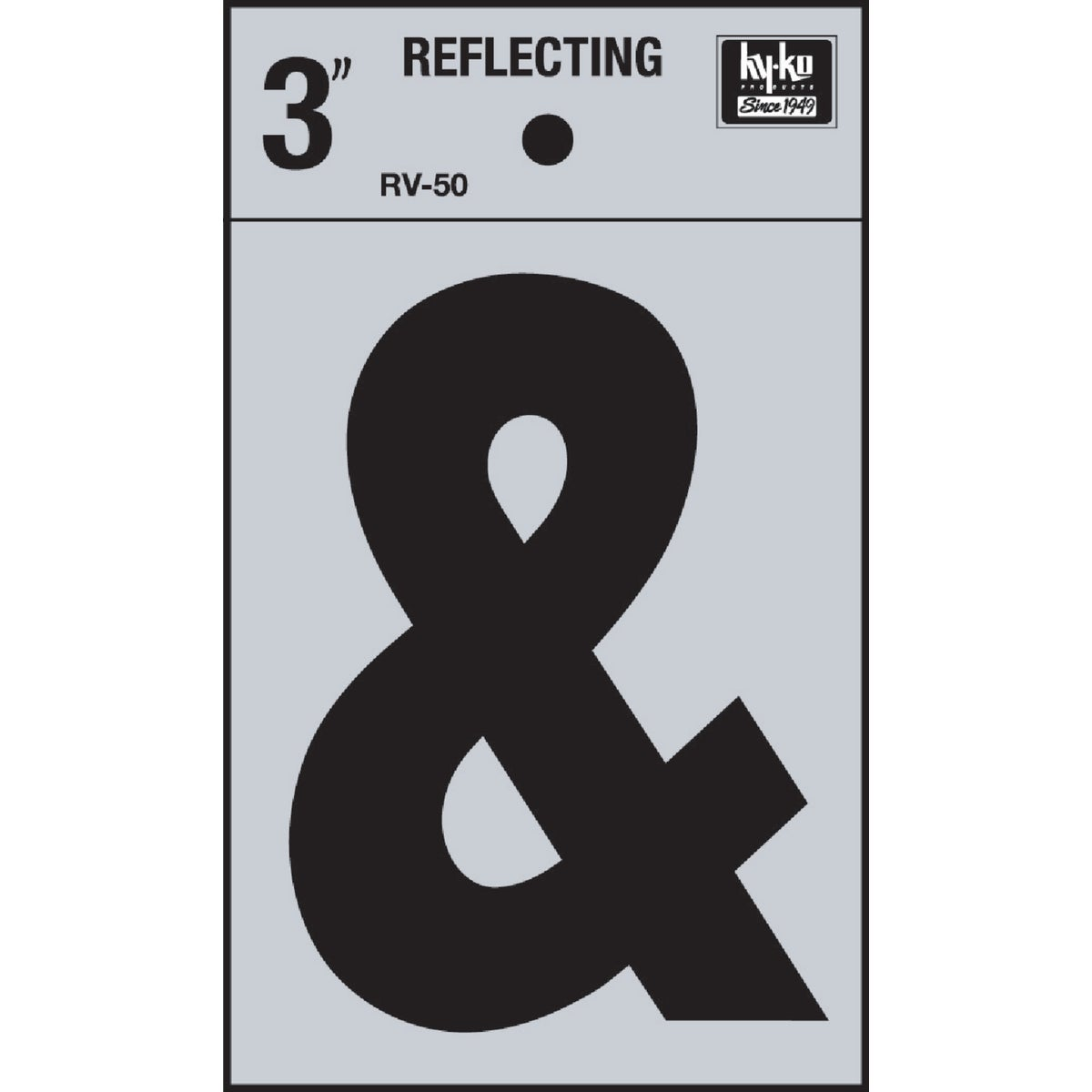 "3"" REFLECT AMPERSAND - RV-50/AM by Hy Ko Prods Co"
