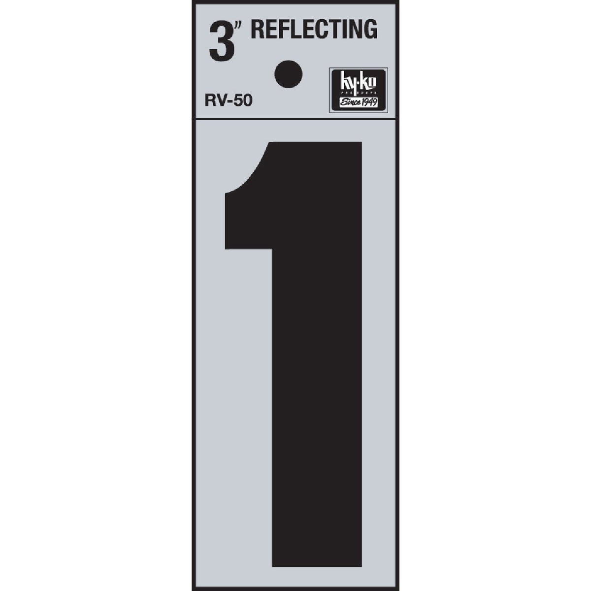 "3"" REFLECT NUMBER 1 - RV-50-1 by Hy Ko Prods Co"