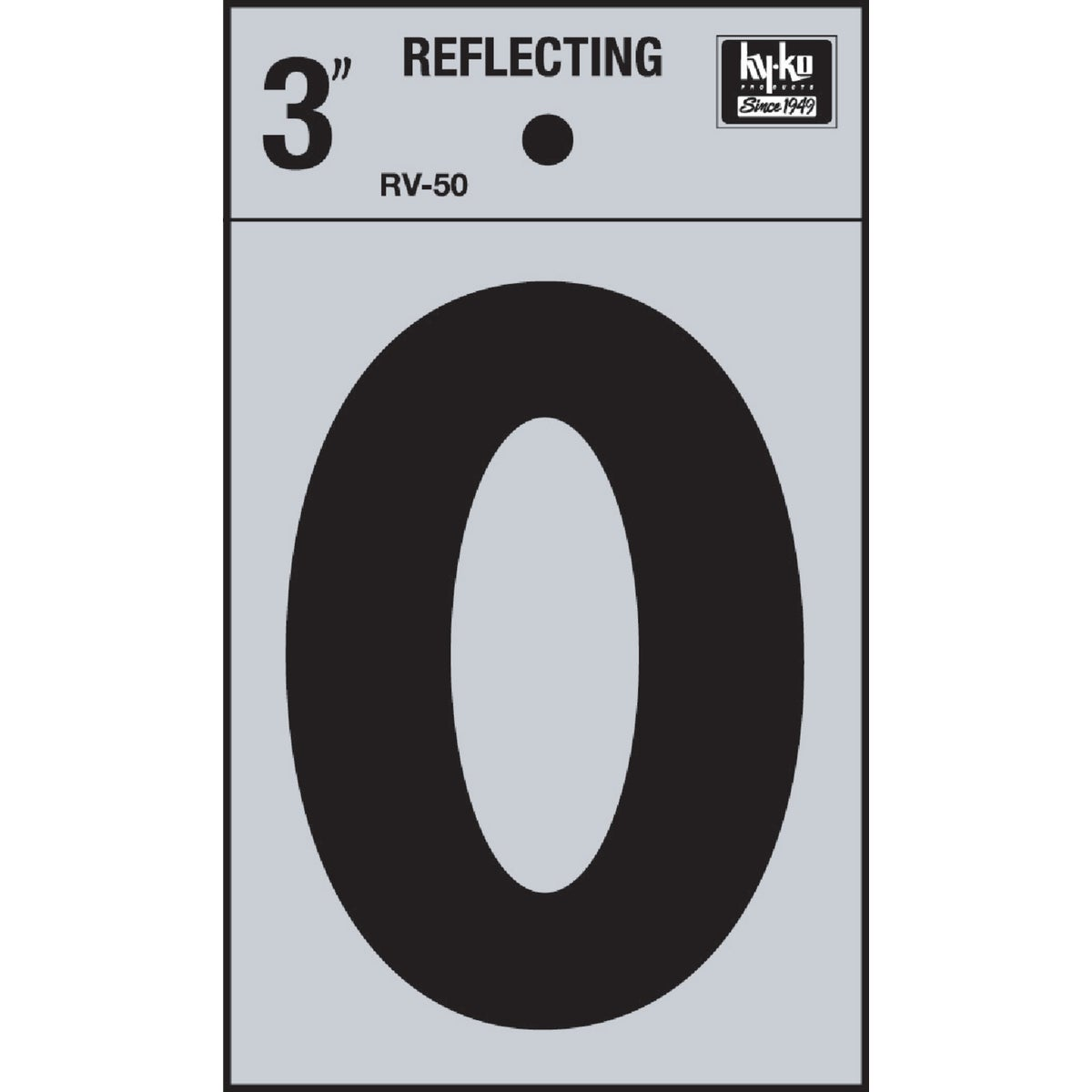 "3"" REFLECT NUMBER 0 - RV-50-0 by Hy Ko Prods Co"