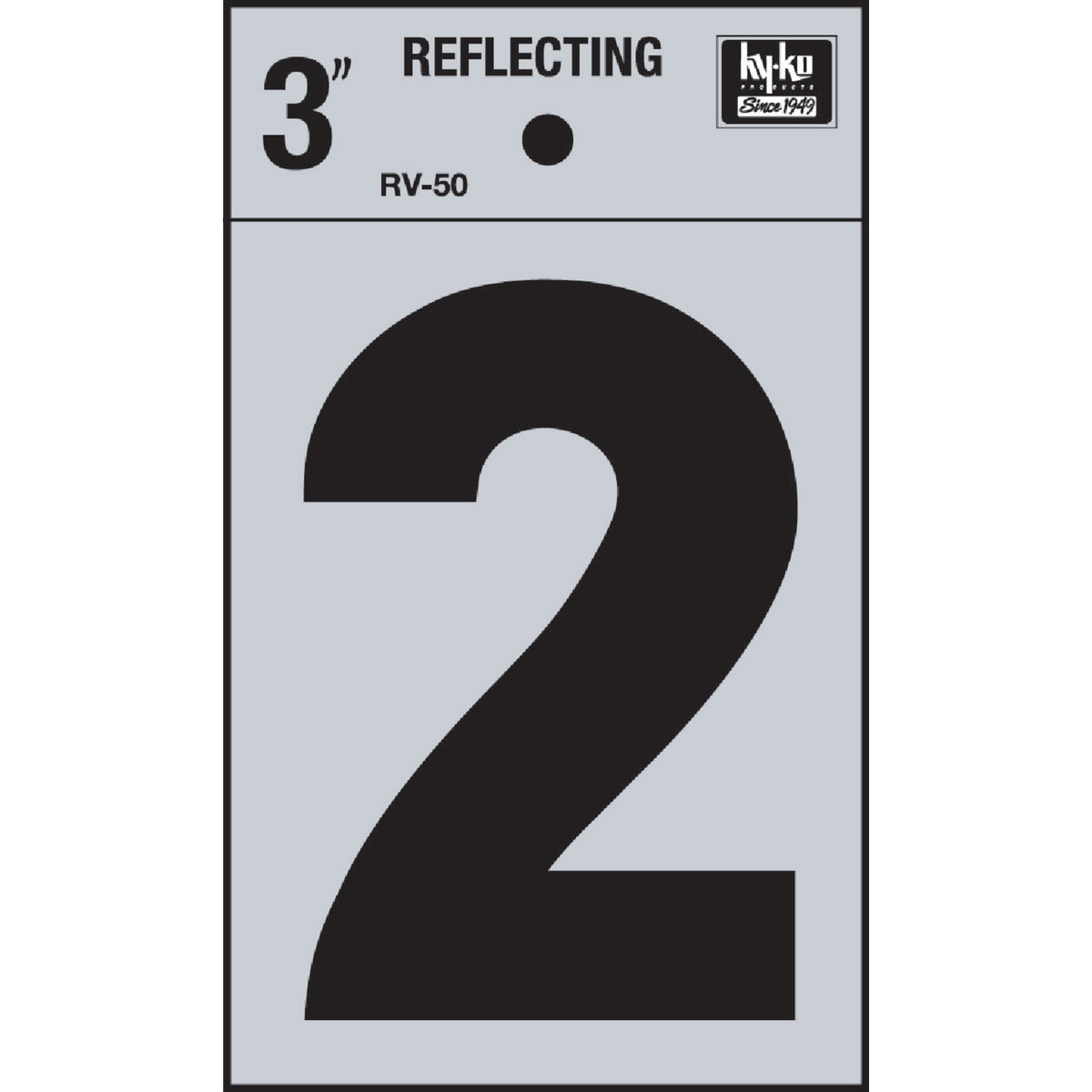 "3"" REFLECT NUMBER 2 - RV-50-2 by Hy Ko Prods Co"