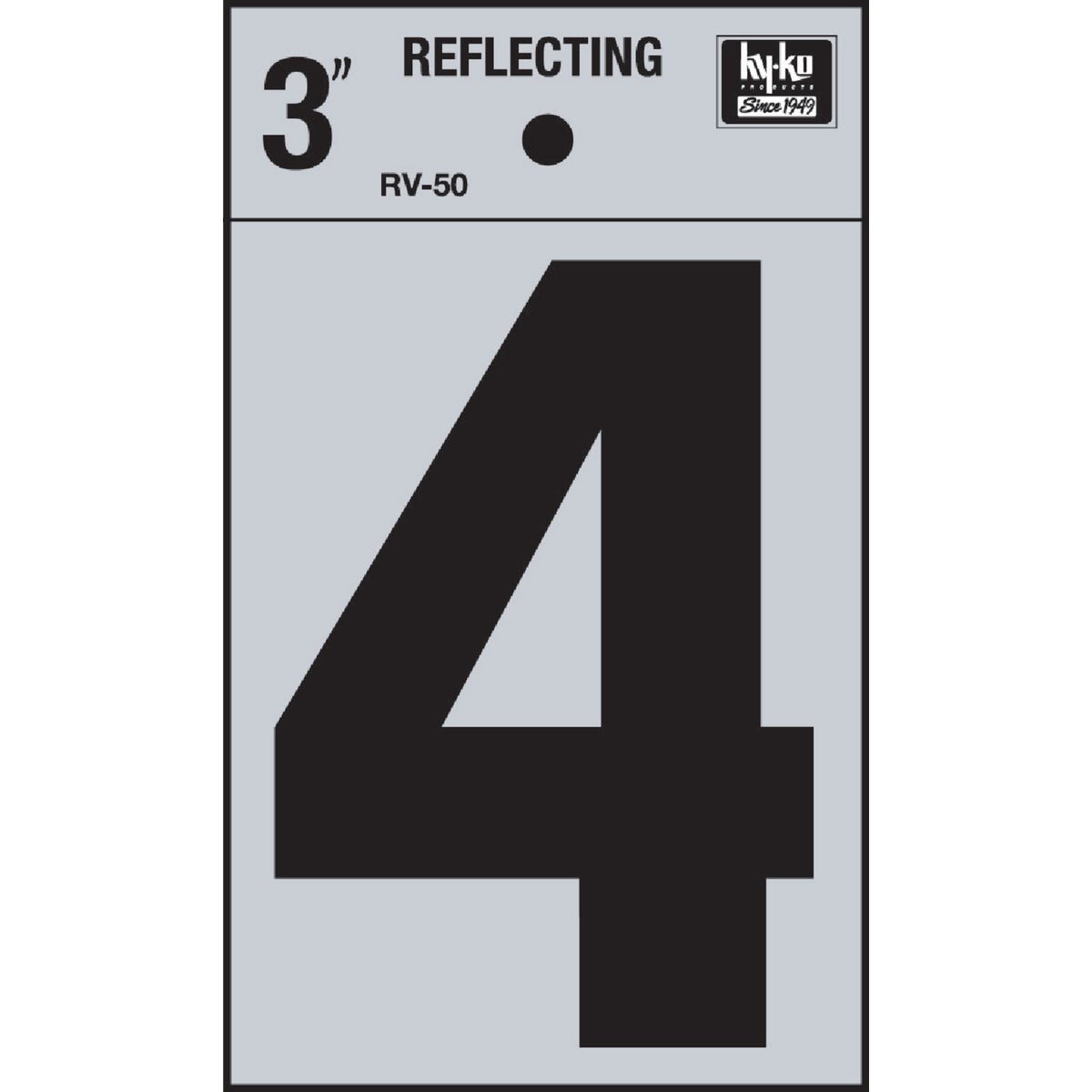 "3"" REFLECT NUMBER 4 - RV-50-4 by Hy Ko Prods Co"