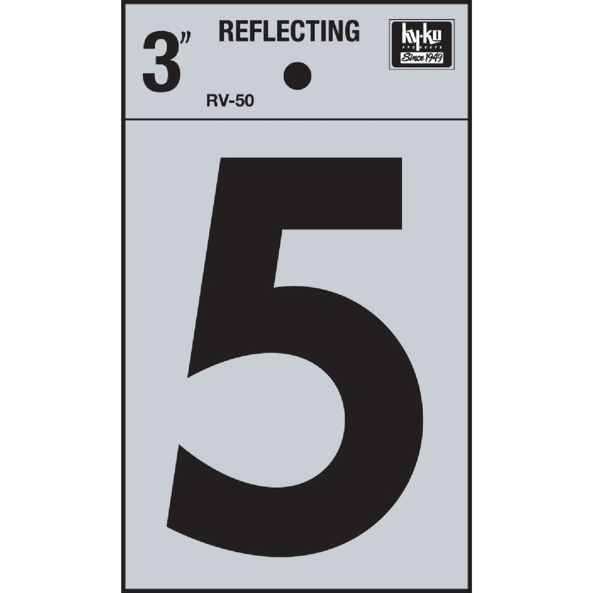 "3"" REFLECT NUMBER 5 - RV-50-5 by Hy Ko Prods Co"