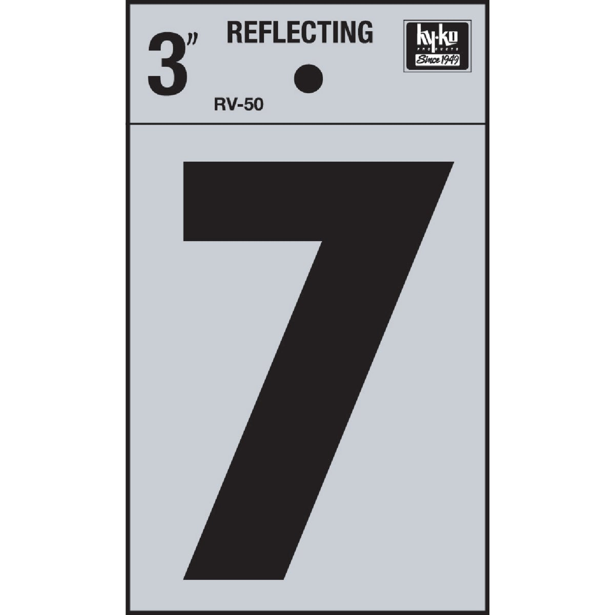 "3"" REFLECT NUMBER 7 - RV-50-7 by Hy Ko Prods Co"