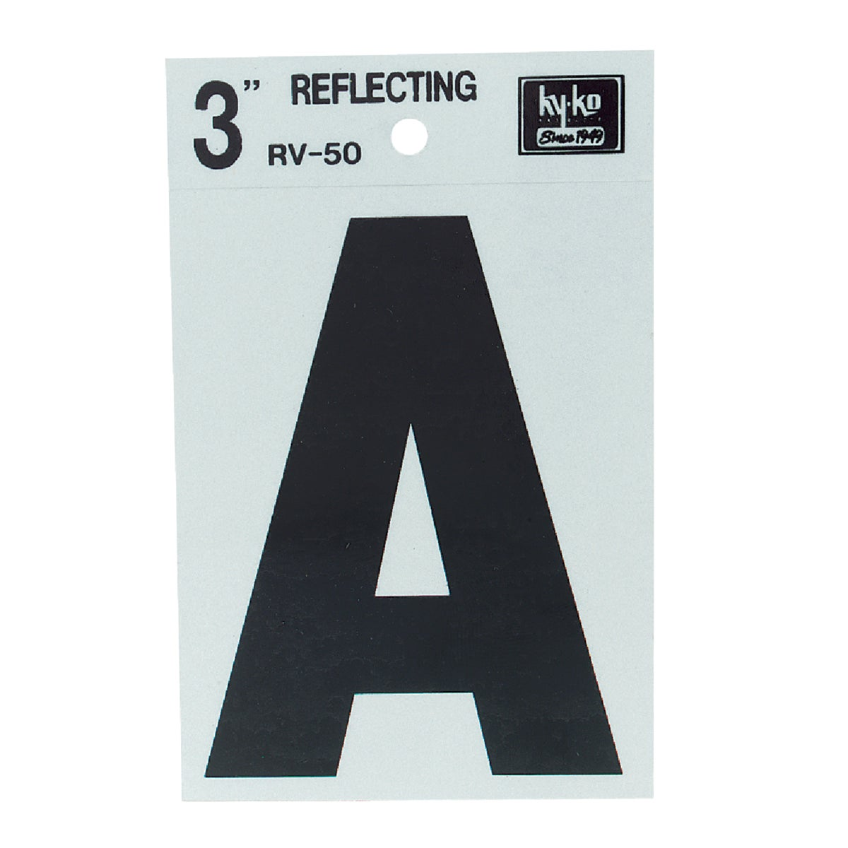 "3"" REFLECT LETTER A - RV-50A by Hy Ko Prods Co"