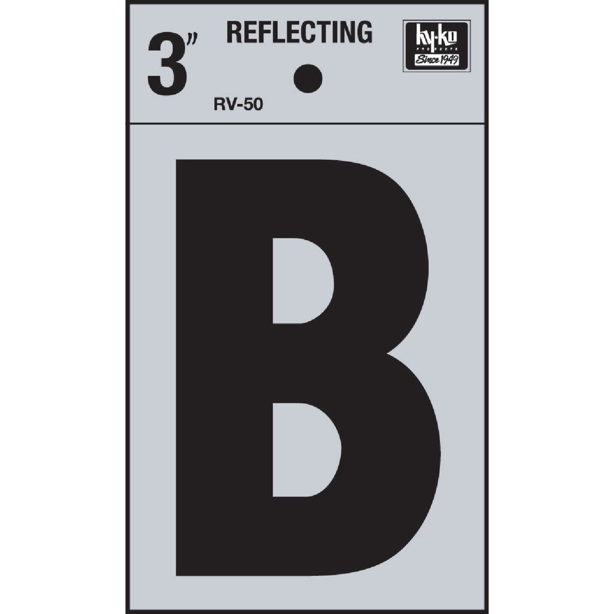 "3"" REFLECT LETTER B - RV-50B by Hy Ko Prods Co"