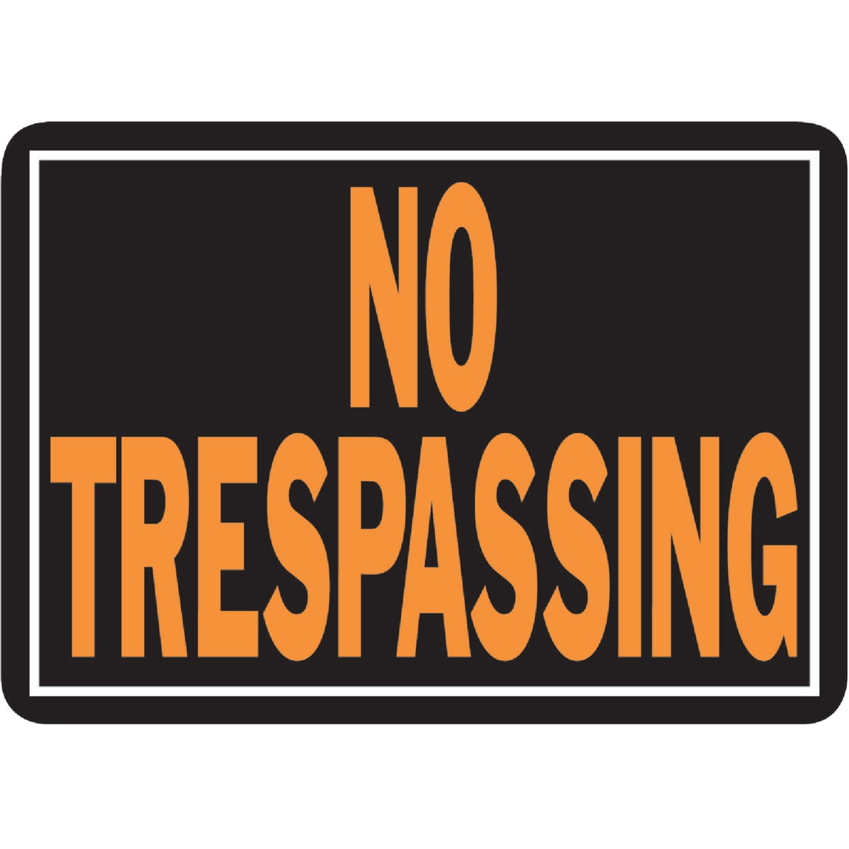 10X14 NO TRESPASS SIGN - 804 by Hy Ko Prods Co