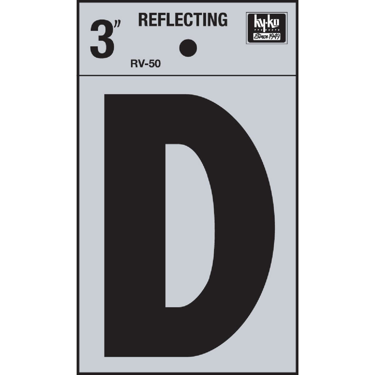 "3"" REFLECT LETTER D - RV-50D by Hy Ko Prods Co"