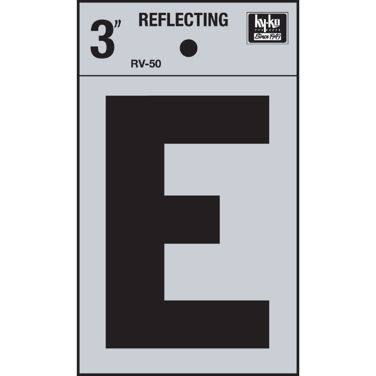 "3"" REFLECT LETTER E - RV-50E by Hy Ko Prods Co"