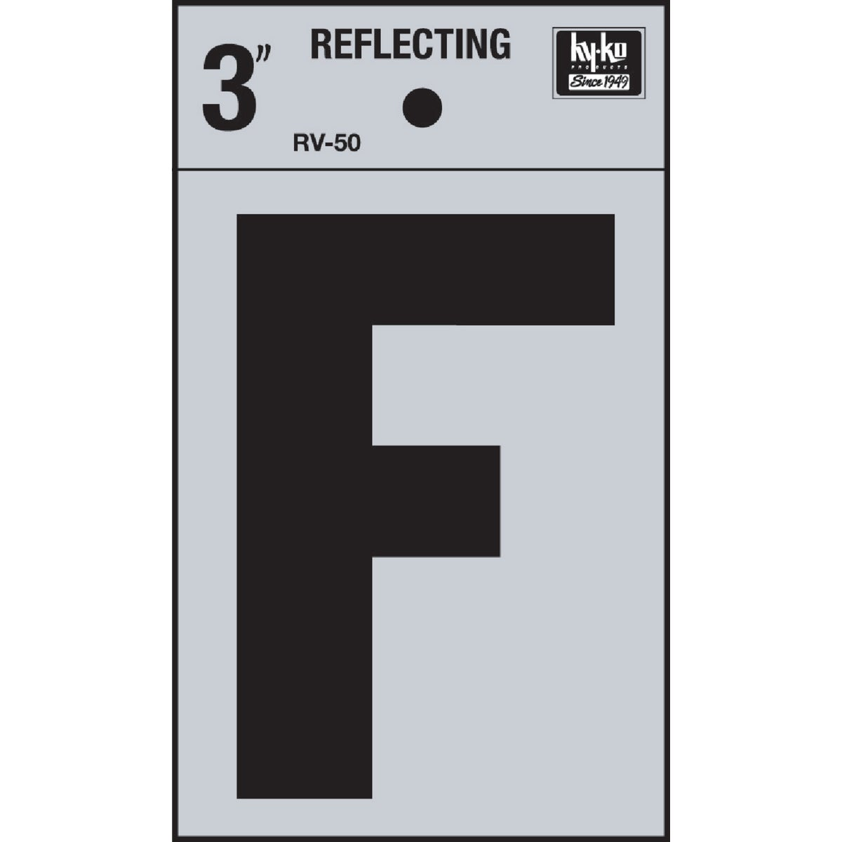 """3"""" REFLECT LETTER F"""