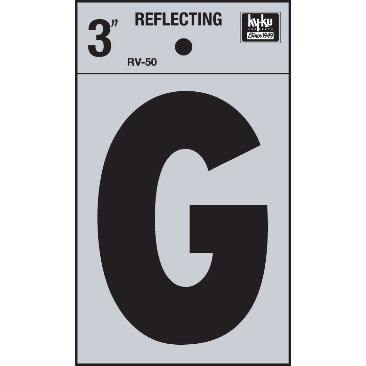 "3"" REFLECT LETTER G - RV-50G by Hy Ko Prods Co"