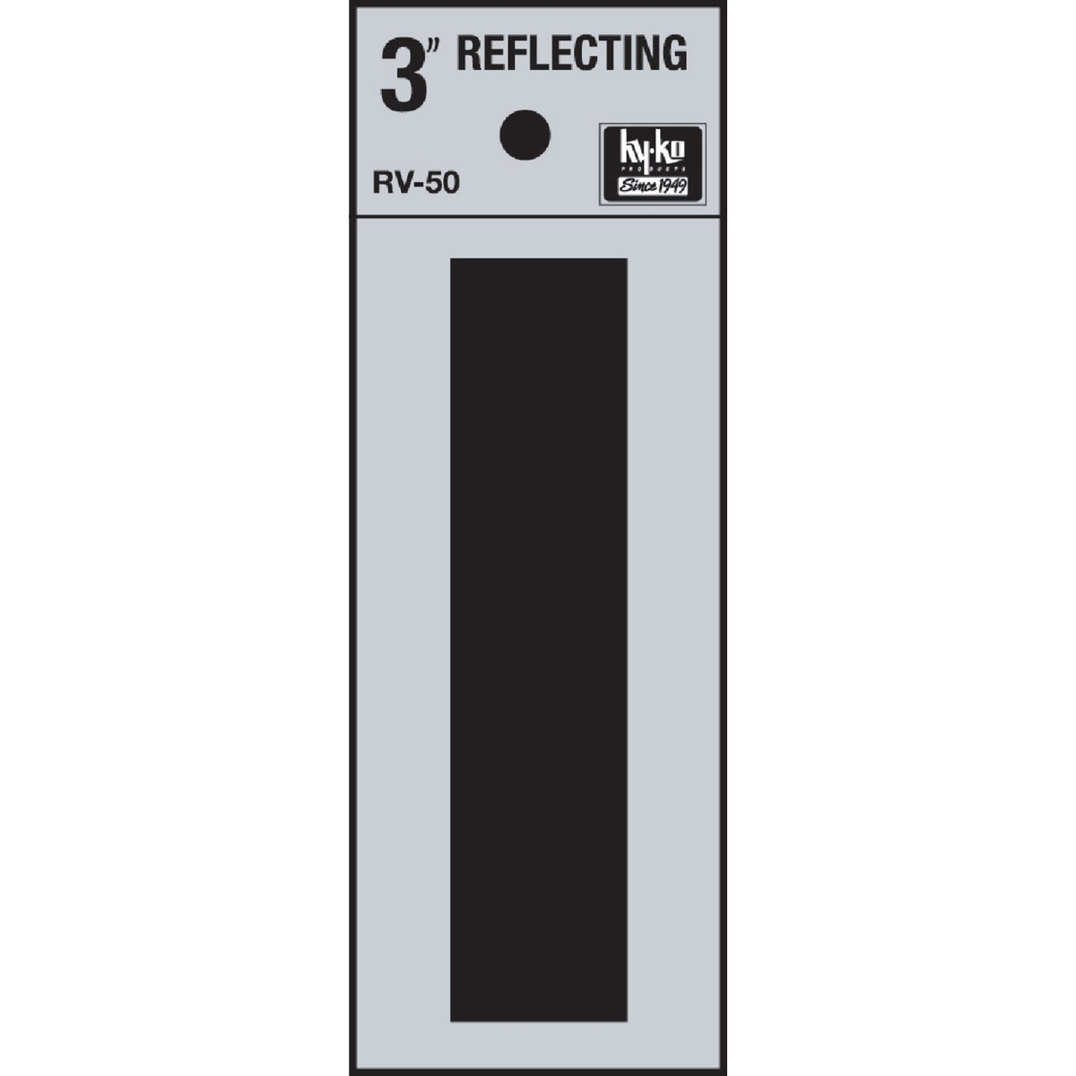 "3"" REFLECT LETTER I - RV-50I by Hy Ko Prods Co"