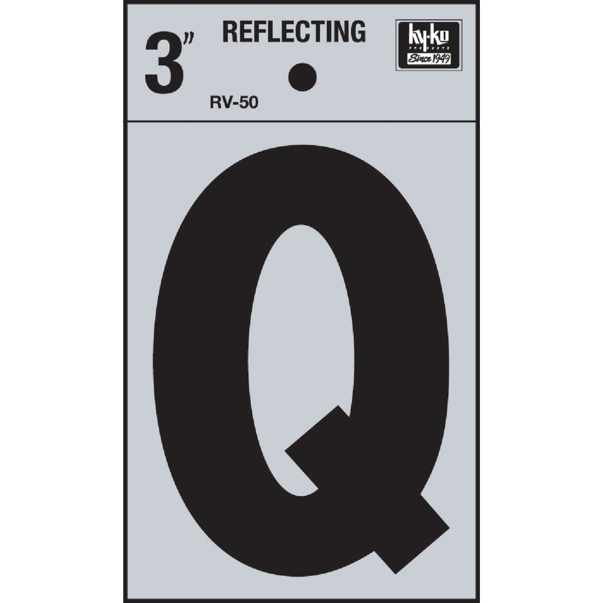 "3"" REFLECT LETTER Q - RV-50Q by Hy Ko Prods Co"