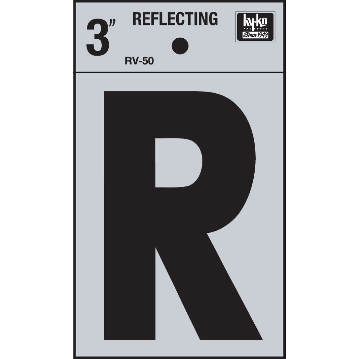 "3"" REFLECT LETTER R - RV-50R by Hy Ko Prods Co"