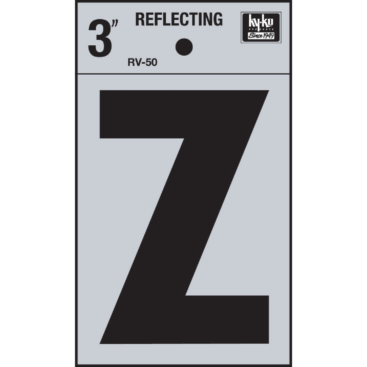 "3"" REFLECT LETTER Z - RV-50Z by Hy Ko Prods Co"