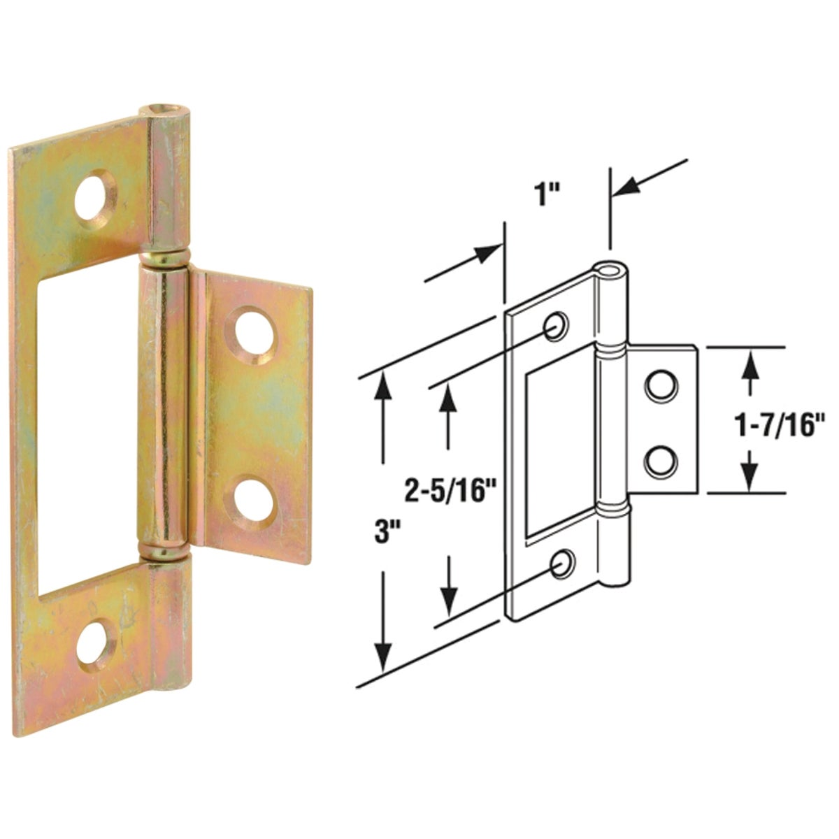 BI-FOLD CLOSET DR HINGE - 161497 by Prime Line Products