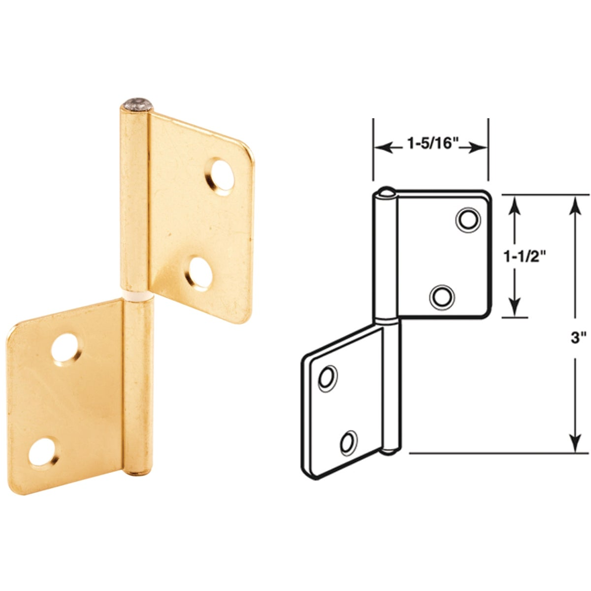 BI-FOLD CLOSET HINGE - 162171 by Prime Line Products