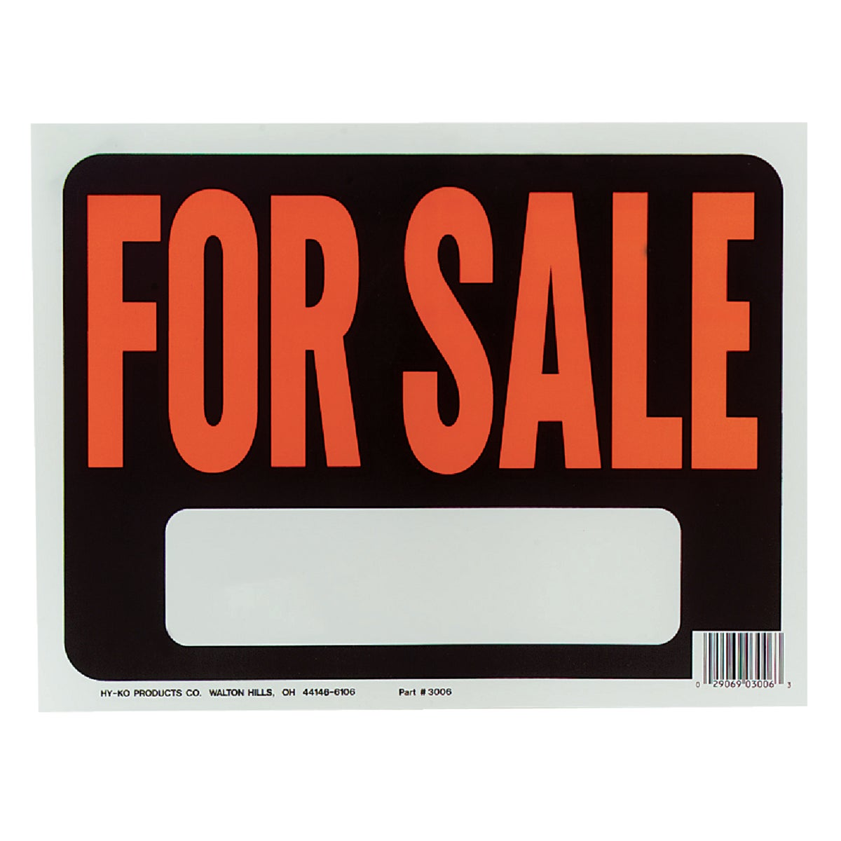 9X12 FOR SALE SIGN