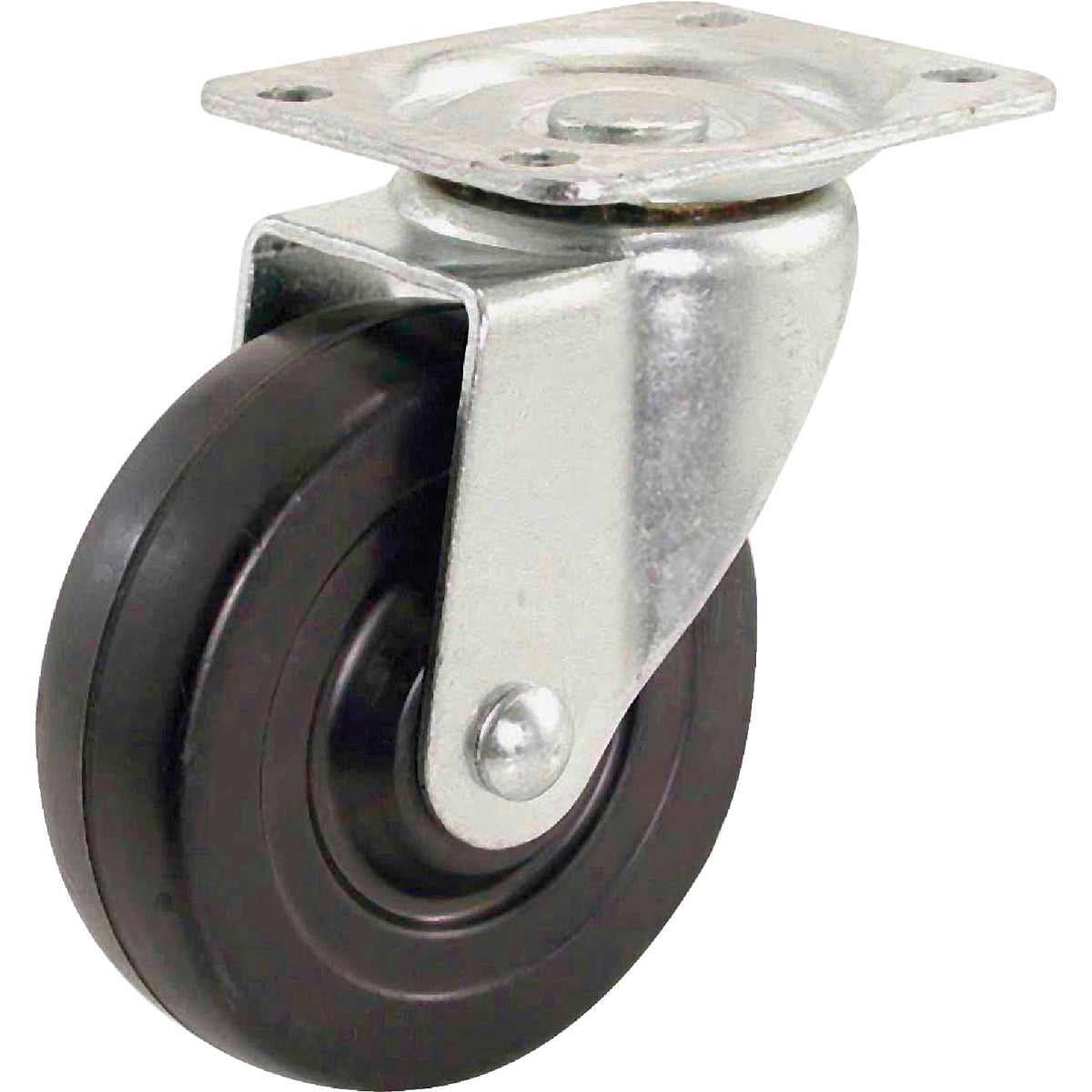 "4"" RUBBER SWIVEL CASTER - 9629 by Shepherd Hardware"