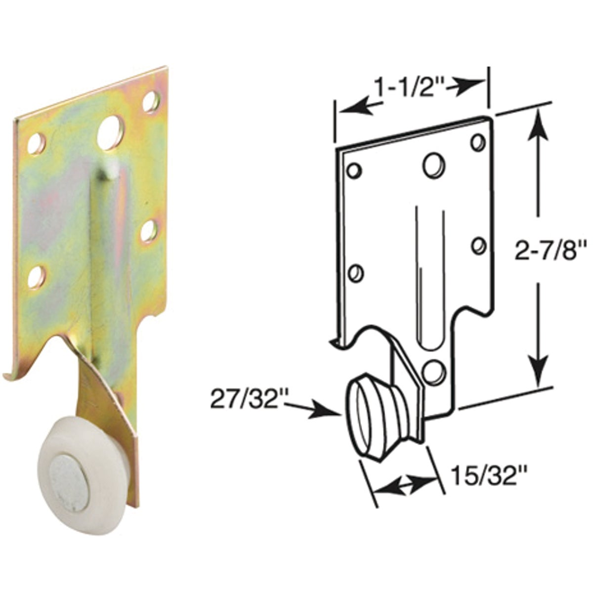 REAR ROLLER BRACKET - 221240 by Prime Line Products
