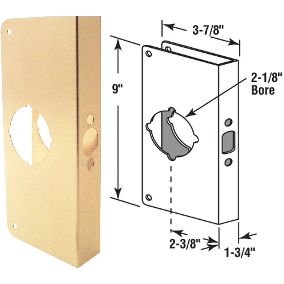 Brass Door Reinforcer