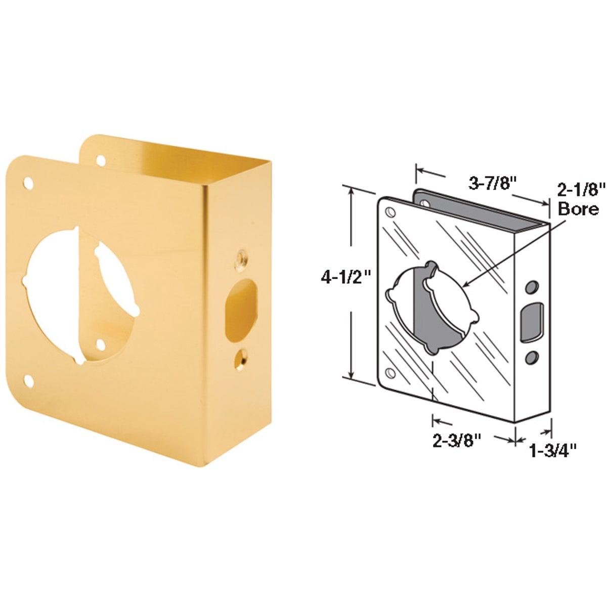 Defender Security 1-3/4 In. x 2-3/8 In. Brass Door Reinforcer
