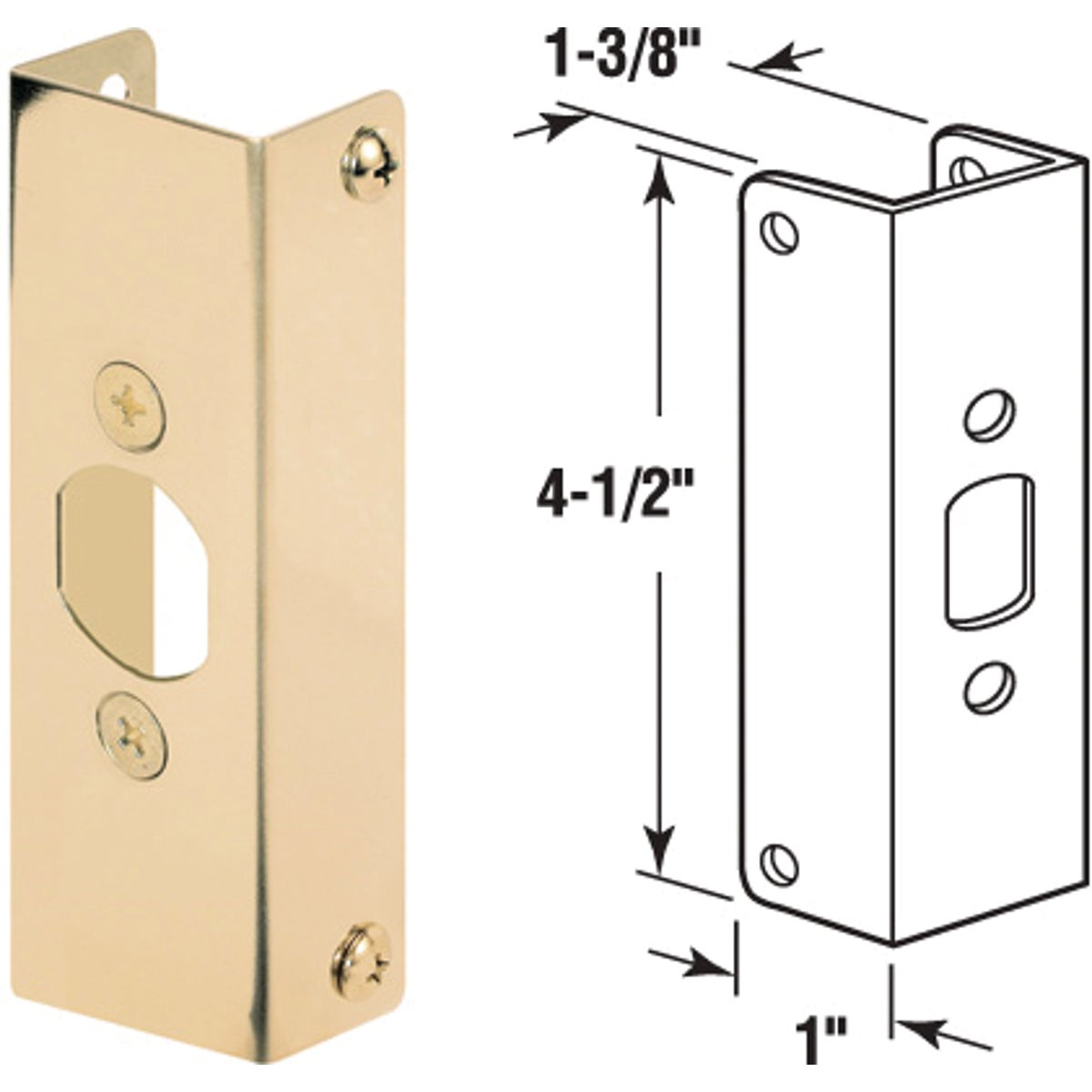 "1-3/8""DOOR REINFORCEMENT - U 9566 by Prime Line Products"
