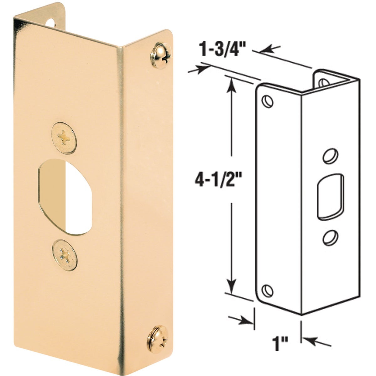 "1-3/4""DOOR REINFORCEMENT - U 9567 by Prime Line Products"