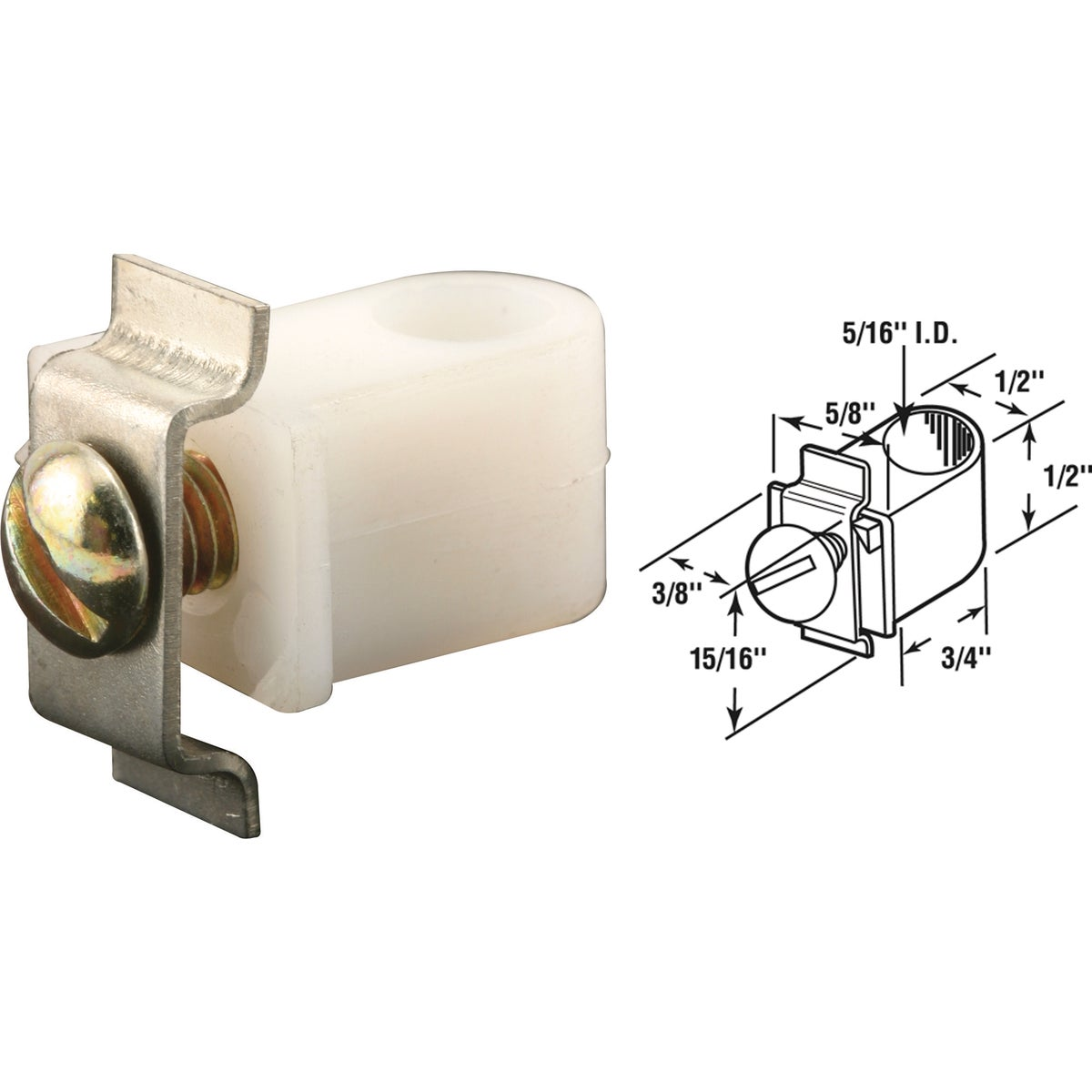 BI-FOLD DOOR CLAMP - 16855 by Prime Line Products