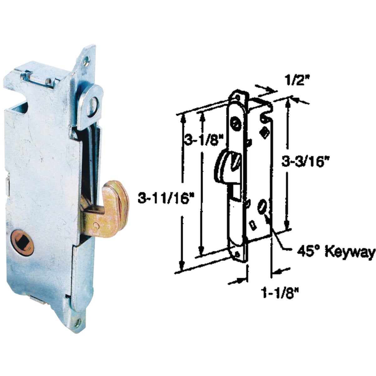 PATIO DOOR MORTISE LOCK - 15410-F by Prime Line Products