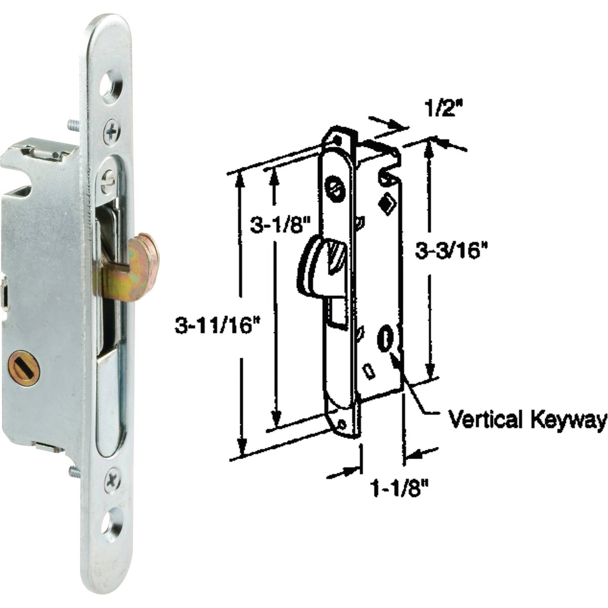 MORTISE PATIO LOCK - 153554 by Prime Line Products