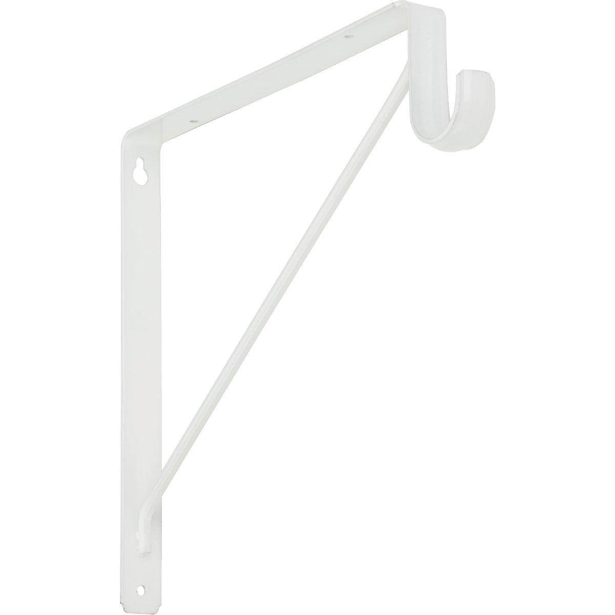 WHT SHELF & ROD BRACKET