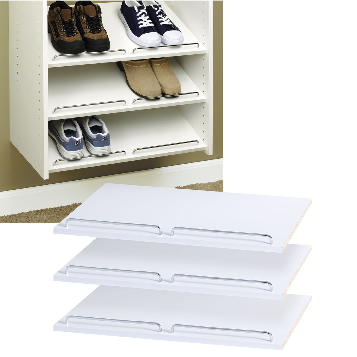 LAMINATED SHOE SHELVES - RS1600 by The Stow Company