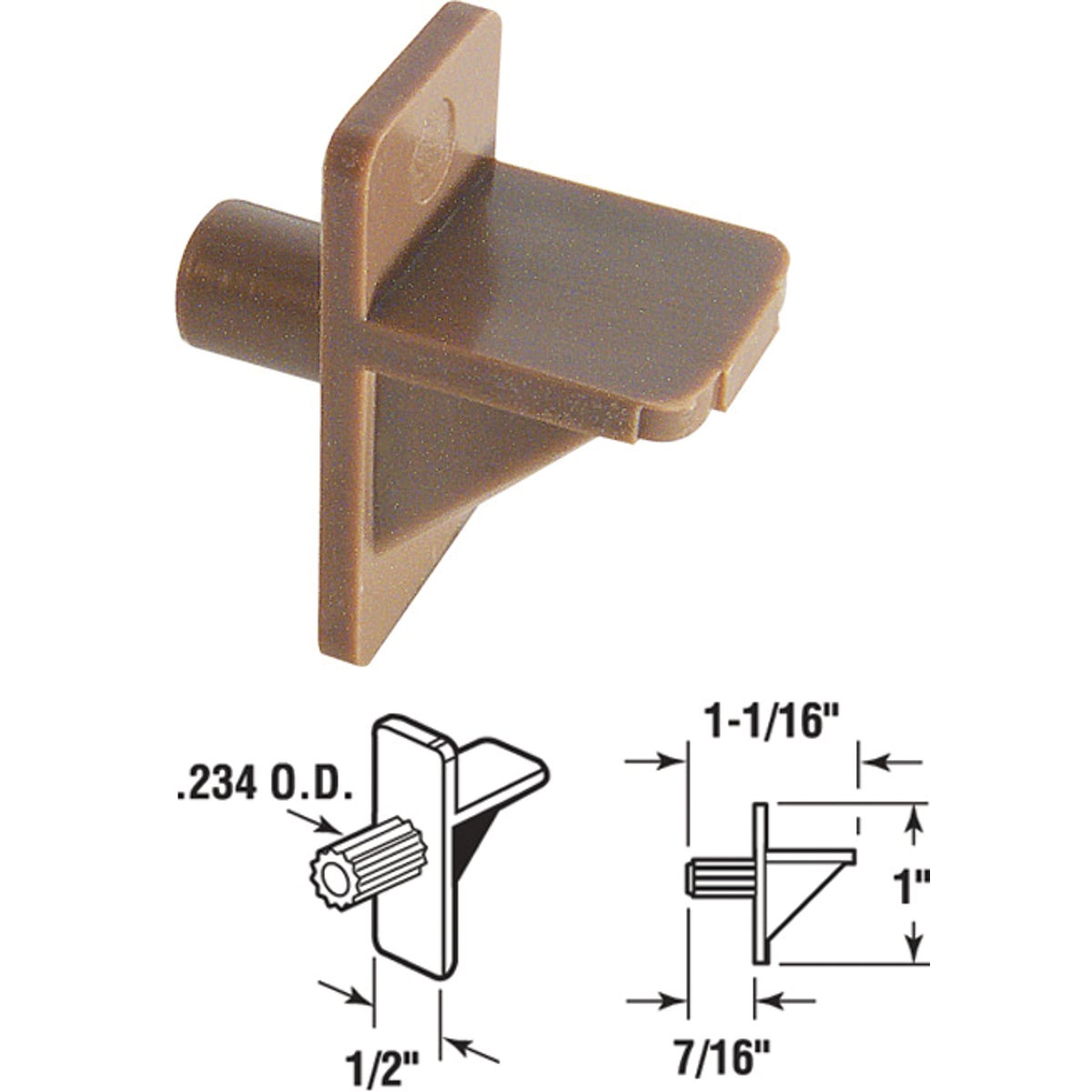 BRN SHELF SUPPORT - 242154 by Prime Line Products