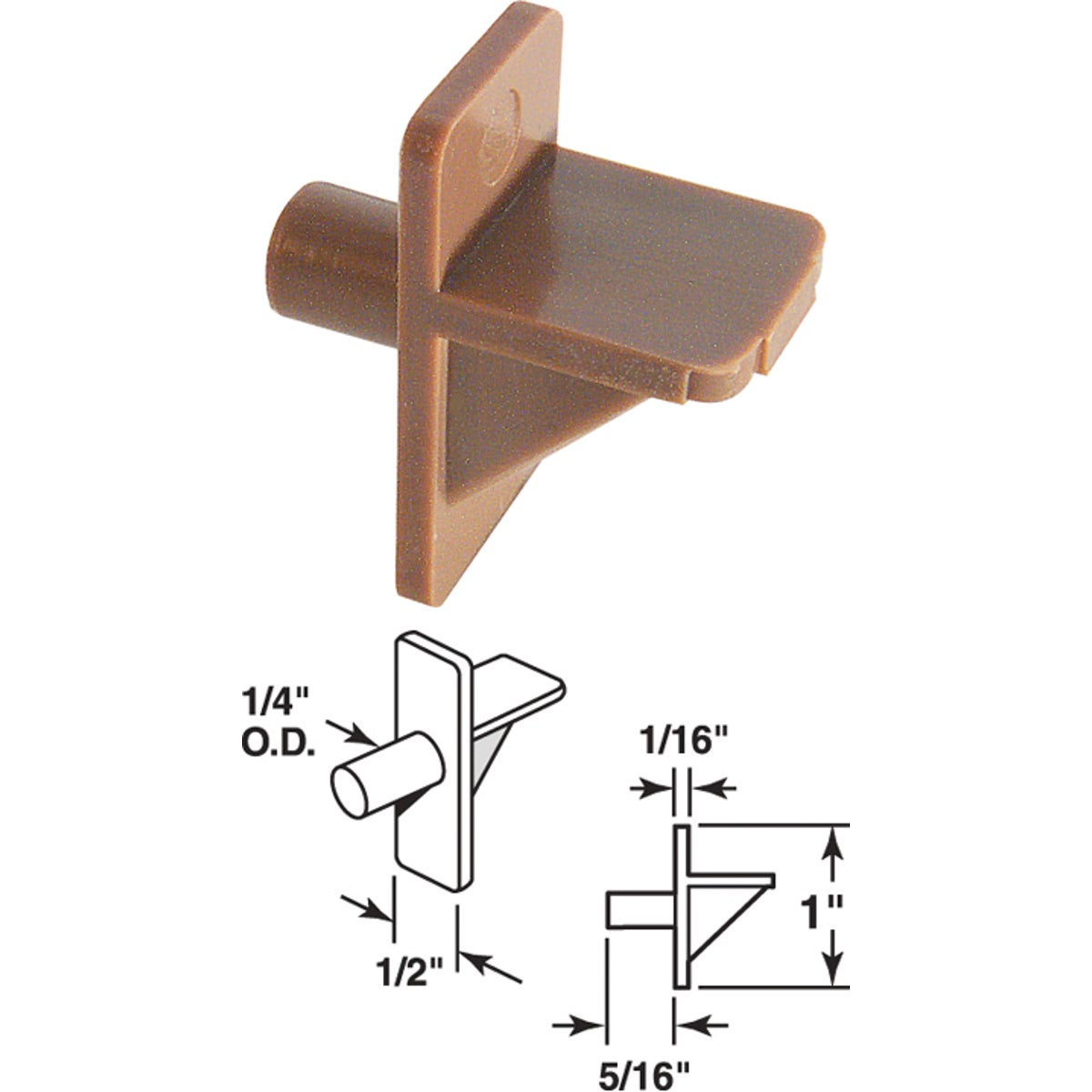 BRN SHELF SUPPORT - 241945 by Prime Line Products