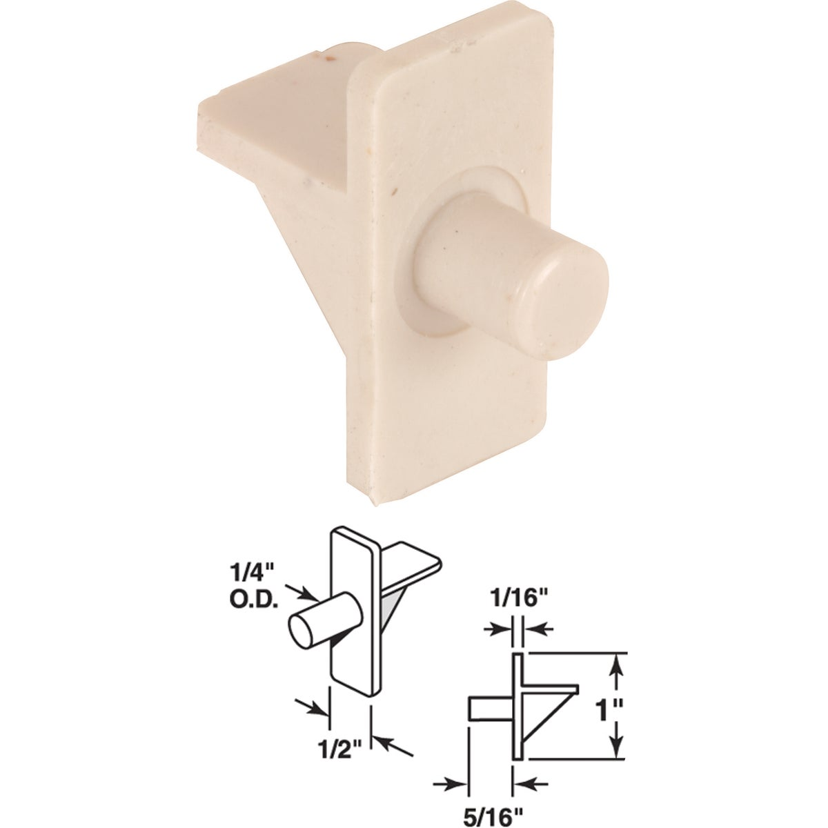 BEIGE SHELF SUPPORT - 242157 by Prime Line Products