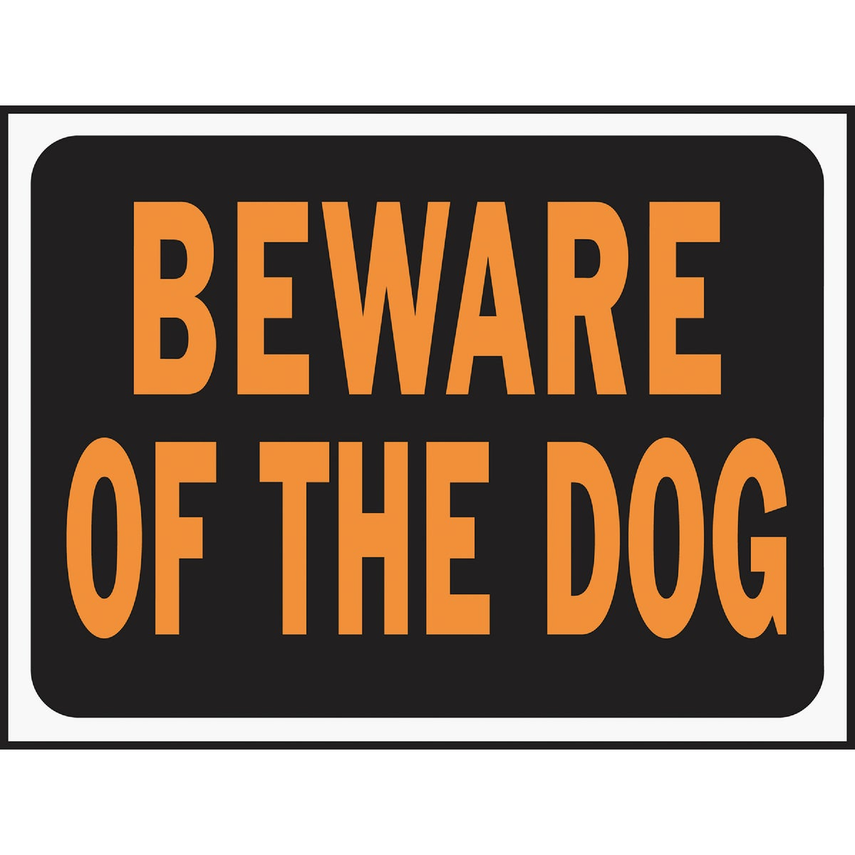9X12 BEWARE OF DOG SIGN - 3002 by Hy Ko Prods Co