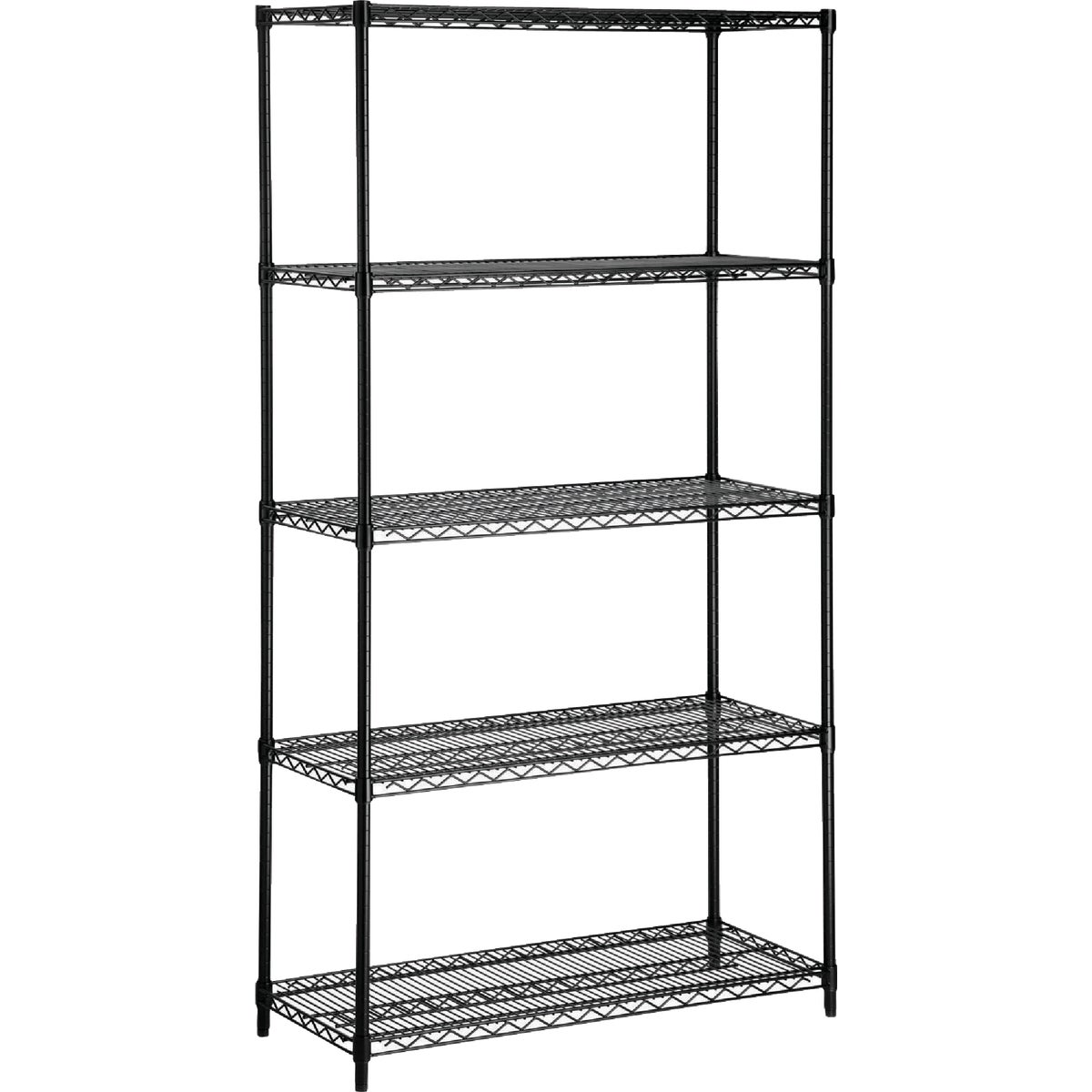 BLK 5 TIER HVY DTY SHELF - SHF-01440 by Honey Can Do