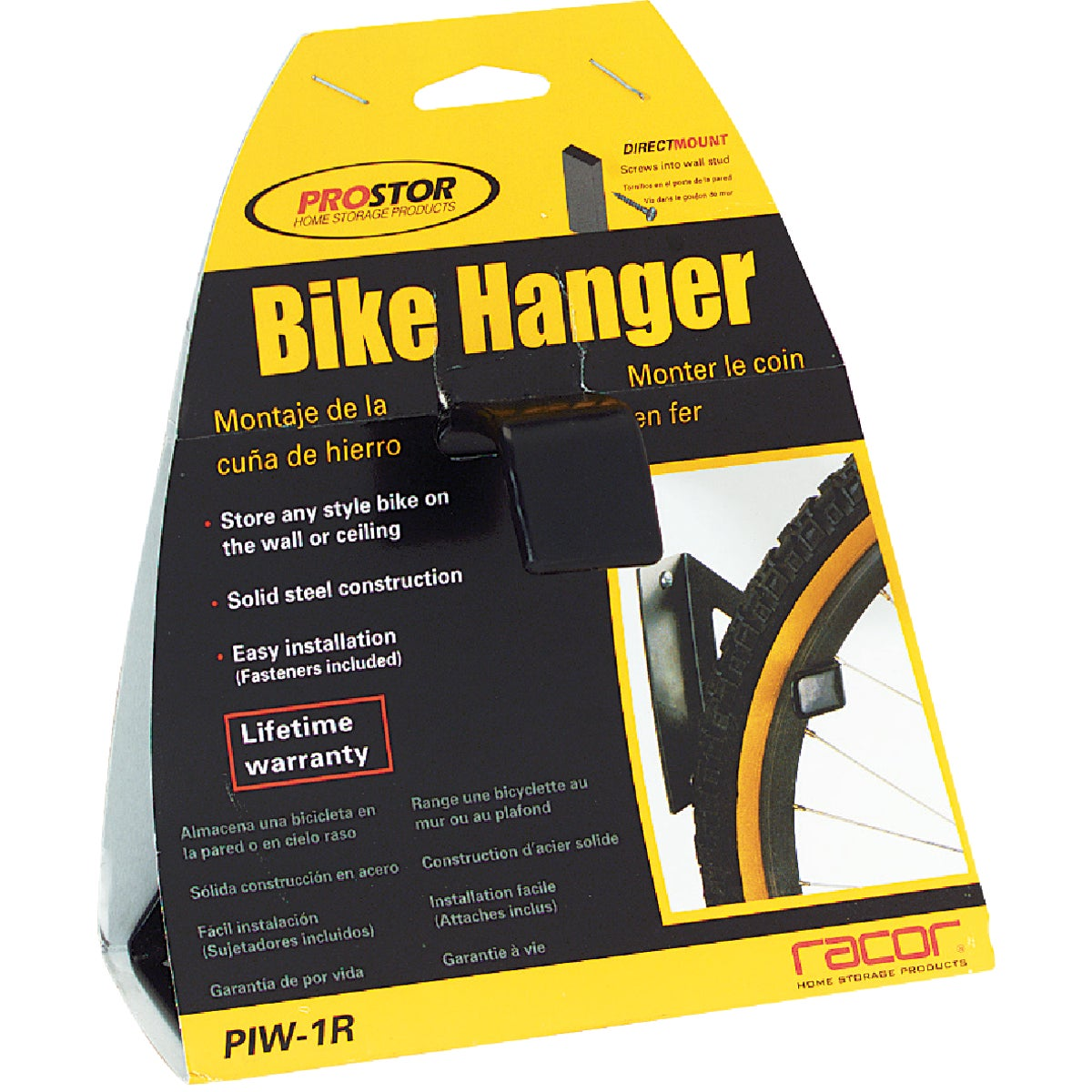 BLK BIKE HANGER - PIW1R by Racor Inc