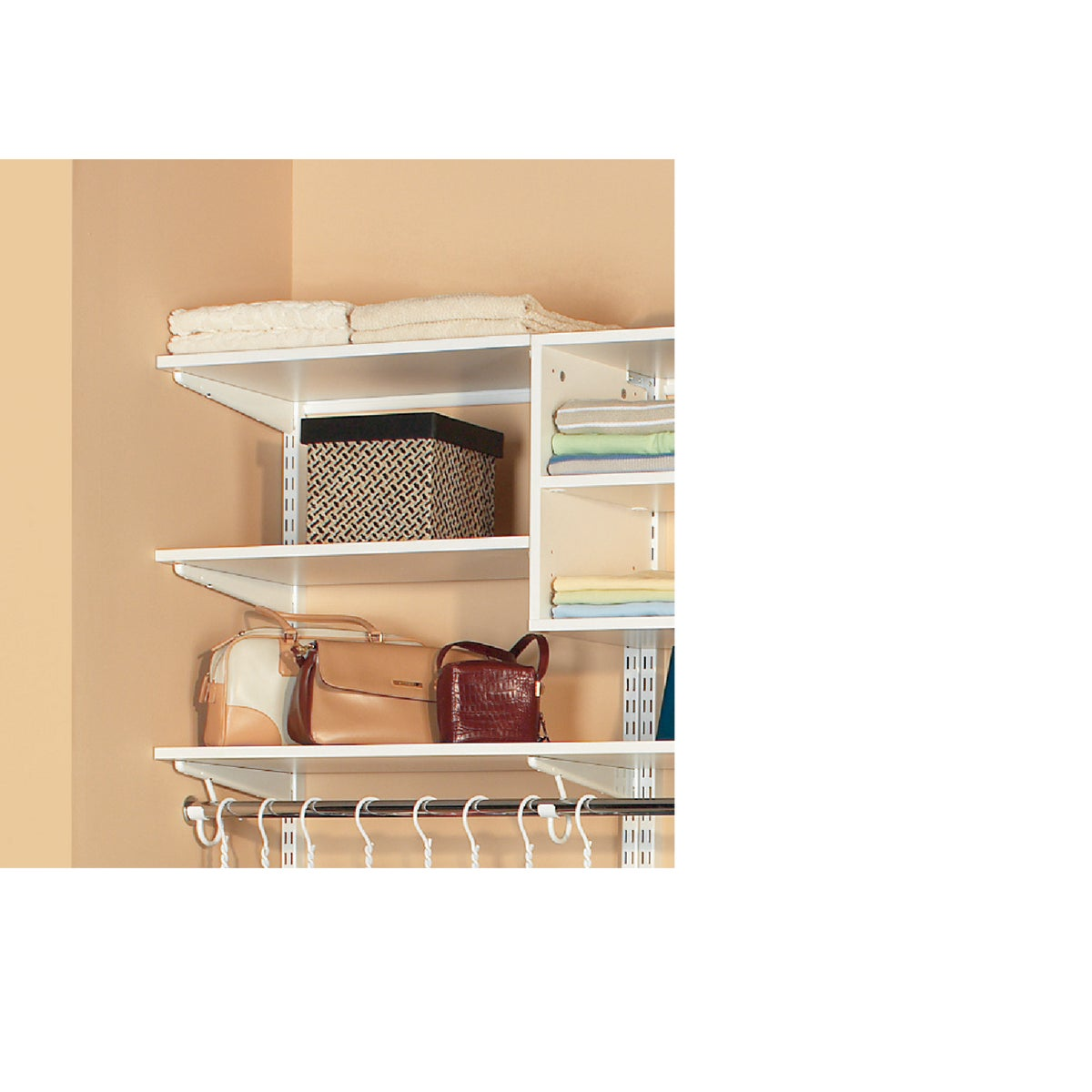 3' WHITE MELAMINE SHELF